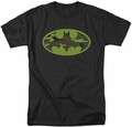 Batman t-shirt Camo Logo mens black