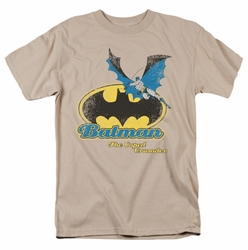 Batman t-shirt Caped Crusader Retro mens sand