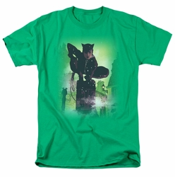 Batman t-shirt Catwoman #63 Cover mens kelly green