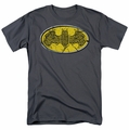 Batman t-shirt Celtic Shield mens charcoal