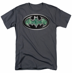 Batman t-shirt Circuitry Shield mens charcoal