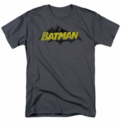Batman t-shirt Classic Comic Logo mens charcoal