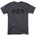 Batman t-shirt Crackle Bat mens charcoal