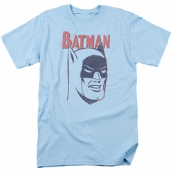 Batman t-shirt Crayon Man mens light blue