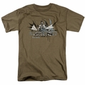 Batman t-shirt Dark Knight Graffiti mens safari green
