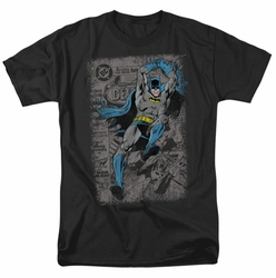 Batman t-shirt Detective #487 Distress mens black