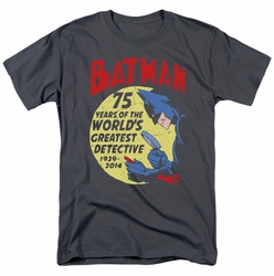 Batman t-shirt Detective 75th mens charcoal