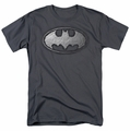 Batman t-shirt Duct Tape Logo mens charcoal
