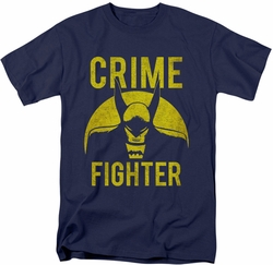 Batman t-shirt Fight Crime mens navy