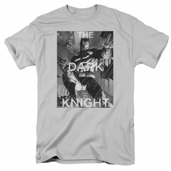 Batman t-shirt Fighting The Storm mens silver