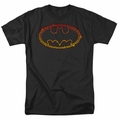 Batman t-shirt Flame Outlined Logo mens black