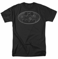 Batman t-shirt Glass Hole Logo mens black
