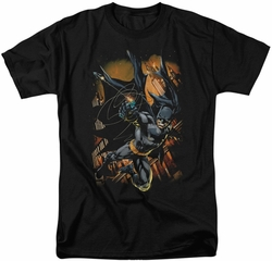 Batman t-shirt Grapple Fire mens black