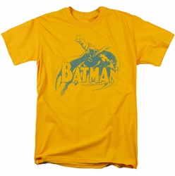 Batman t-shirt Here'S Batman mens gold