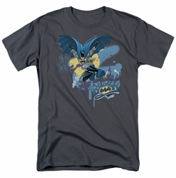 Batman t-shirt Into The Night mens charcoal