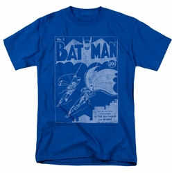Batman t-shirt Issue 1 Cover mens royal