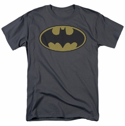 Batman t-shirt Little Logos mens charcoal