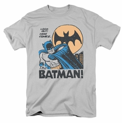 Batman t-shirt Look Out mens silver