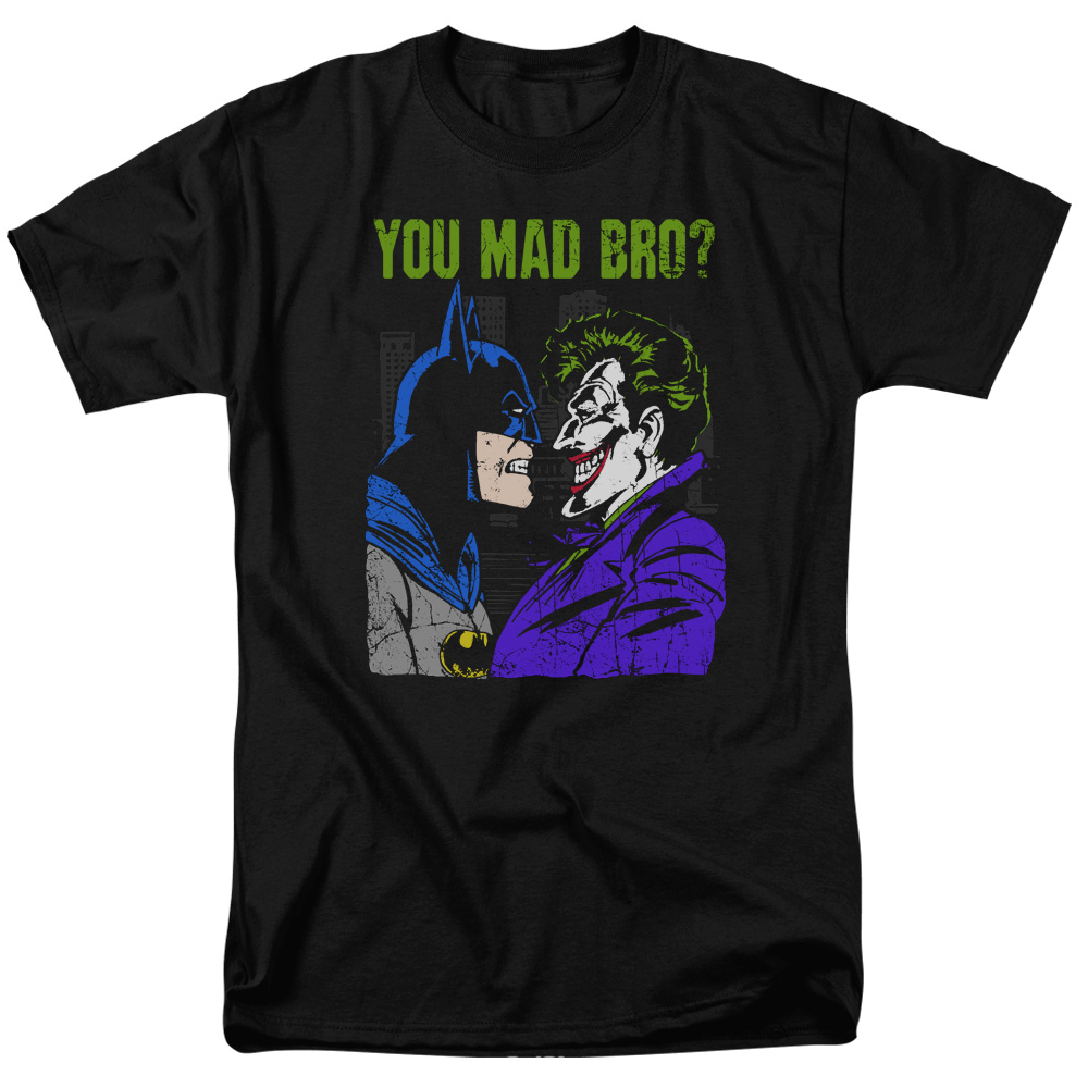 batman t shirt mad bro mens black. Black Bedroom Furniture Sets. Home Design Ideas