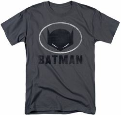 Batman t-shirt Mask In Oval mens charcoal