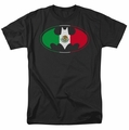 Batman t-shirt Mexican Flag Shield mens black