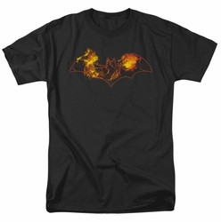 Batman t-shirt Molten Logo mens black