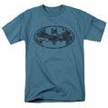 Batman t-shirt Navy Camo Shield mens slate