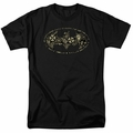 Batman t-shirt Paisley Bat mens black
