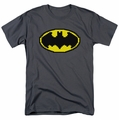 Batman t-shirt Pixel Symbol mens charcoal