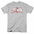 Batman t-shirt Plaid Splat Logo mens silver