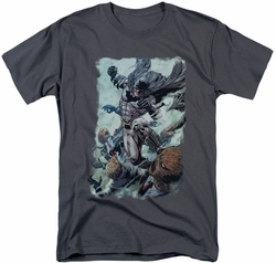 Batman t-shirt Punch mens charcoal
