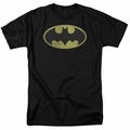 Batman t-shirt Retro Bat Logo Distressed mens black
