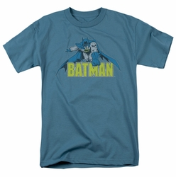 Batman t-shirt Retro Distressed mens slate
