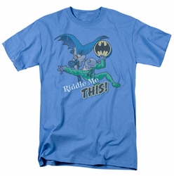 Batman t-shirt Riddle Me This mens carolina blue