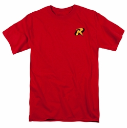 Batman t-shirt Robin Logo mens red