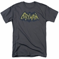Batman t-shirt Show Bat Logo mens charcoal