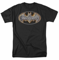 Batman t-shirt Steel Fire Shield mens black