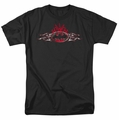 Batman t-shirt Steel Flames Logo mens black