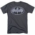 Batman t-shirt Steel Mesh Shield mens charcoal