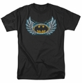 Batman t-shirt Steel Wings Logo mens black