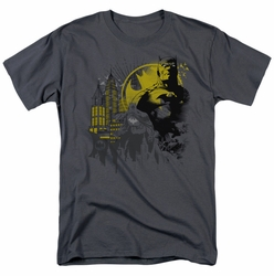 Batman t-shirt The Dark City mens charcoal