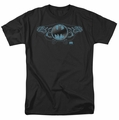 Batman t-shirt Two Gargoyles Logo mens black