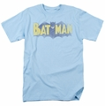 Batman t-shirt Vintage Logo mens light blue