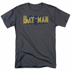 Batman t-shirt Vintage Logo Splatter mens charcoal