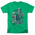 Joker t-shirt Wild Cards mens kelly green