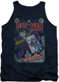 Joker tank top #251 Distressed adult navy