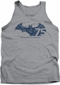 Batman tank top 75 Year Collage adult athletic heather