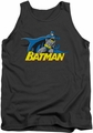 Batman tank top 8 Bit Cape adult charcoal