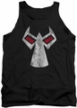 Batman tank top Bane Mask adult black
