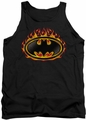 Batman tank top Bat Flames Shield adult black